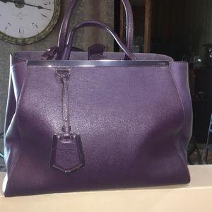 Fendi 2Jours Tote - plum color
